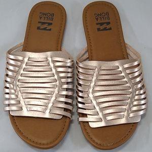 Billabong Metallic Tread Lightly Slide Sandals